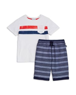 Splendid Boys' Stripe Tee & French Terry Shorts Set - Little Kid