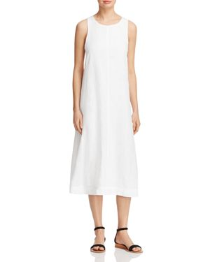 Eileen Fisher Petites Sleeveless Organic Linen Dress