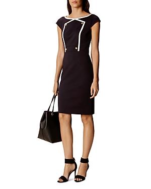 Karen Millen Button-Detail Pencil Dress