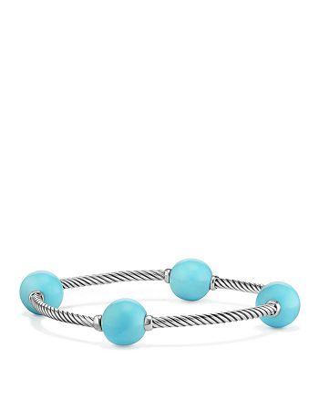 David Yurman - Mustique Four Station Bangle Bracelet with Turquoise