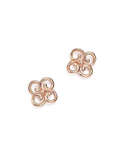 Bloomingdale's - 14K Rose Gold Twist Clover Earrings - 100% Exclusive