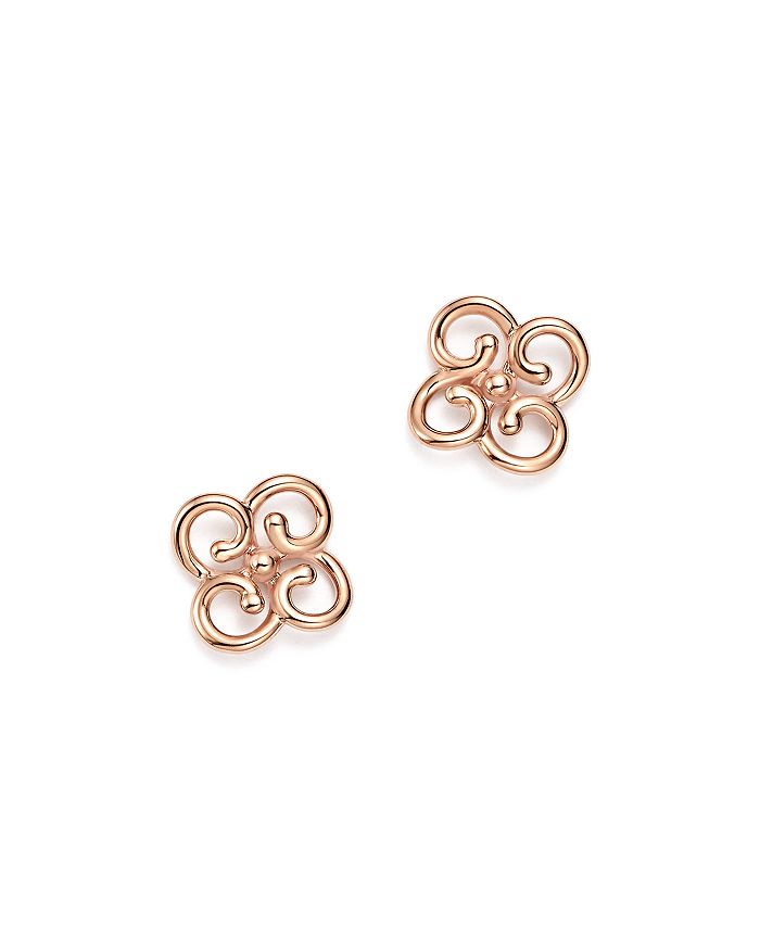 Bloomingdale's - 14K Rose Gold Twist Clover Earrings - 100% Exclusive