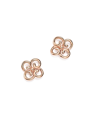 14K Rose Gold Twist Clover Earrings - 100% Exclusive