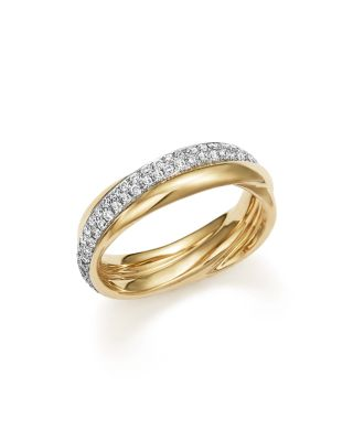 $Diamond Crossover Band in 14K Yellow Gold, .50 ct. t.w. - 100% Exclusive - Bloomingdale's