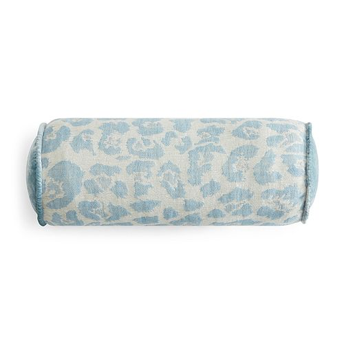 "Kevin O'Brien Studio - Leopard Decorative Bolster Pillow, 6"" x 17"""