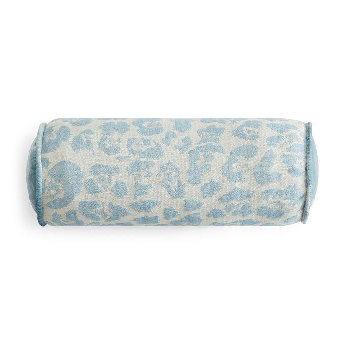 "Kevin O'Brien Studio - Leopard Decorative Bolster Pillow, 6"" x 17"""