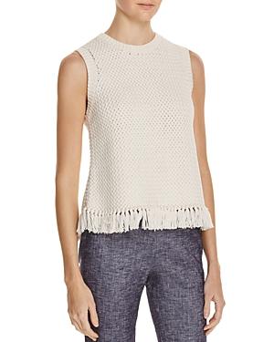 Theory Meenara Fringe Hem Sleeveless Sweater