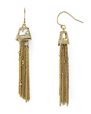 Alexis Bittar Chain Tassel Drop Earrings