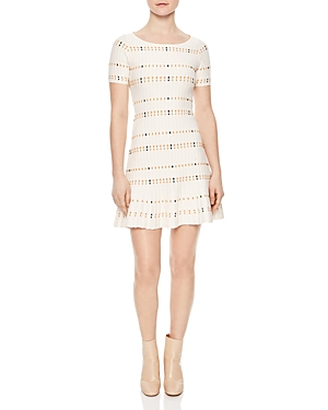 Sandro Before Textured Knit Dress