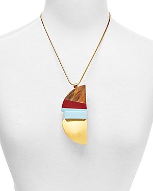 Marni Wood & Resin Pendant Necklace, 24