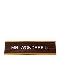He Said She Said Mr Wonderful Nameplate - Bloomingdale's_0
