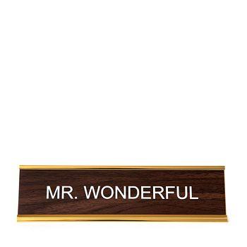He Said She Said - Mr Wonderful Nameplate