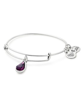 Alex And Ani Swarovski Crystal Birthstone Expandable Wire Bangle