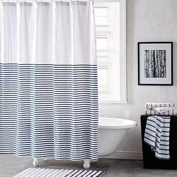 DKNY - Parsons Stripe Shower Curtain