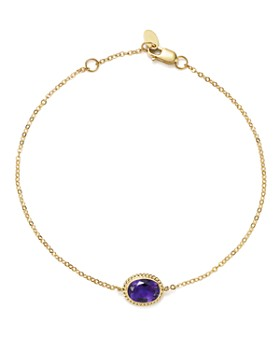 Bloomingdale's - Amethyst Oval Bracelet in 14K Yellow Gold - 100% Exclusive