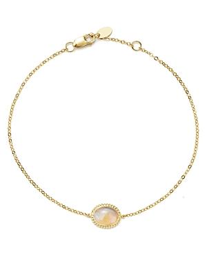 Opal Oval Bracelet in 14K Yellow Gold