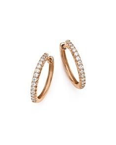 Bloomingdale's - Diamond Hoop Earrings in 14K Rose Gold, .40 ct. t.w. - 100% Exclusive