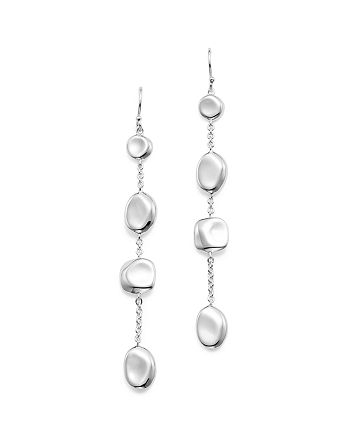 IPPOLITA - Sterling Silver Glamazon® Pebble and Chain Linear Earrings