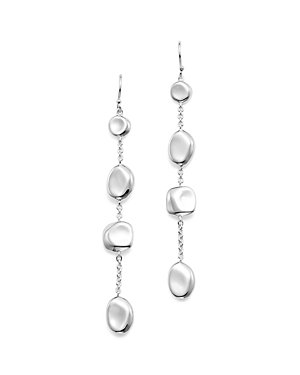 Ippolita Sterling Silver Glamazon Pebble and Chain Linear Earrings