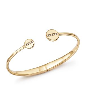 Ippolita 18K Yellow Gold Senso Hinge Bracelet with Diamonds