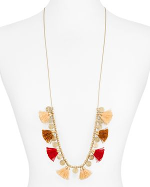 Aqua Liana Beaded Tassel Necklace, 48 - 100% Exclusive