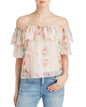 Yfb On The Road Bailey Floral Off-the-Shoulder Ruffle Top