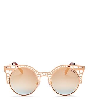 Quay Fleur Mirrored Cat Eye Sunglasses, 49mm