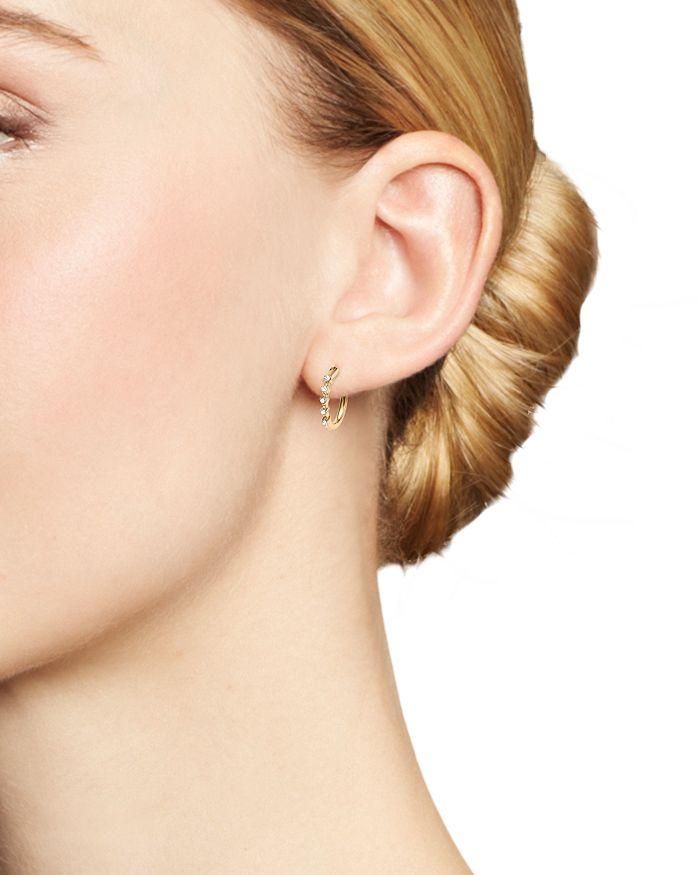 c55fda4d0 Adina Reyter 14K Yellow Gold 5-Diamond Huggie Hoop Earrings ...