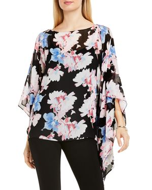Vince Camuto Floral Print Poncho
