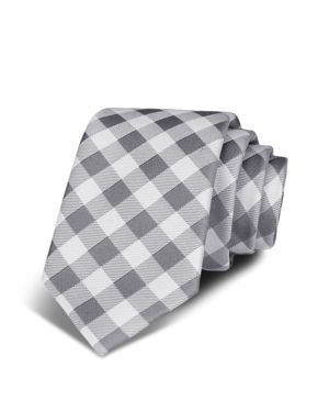 Bloomingdale's Boys Boys' Classic Grid Tie - 100% Exclusive