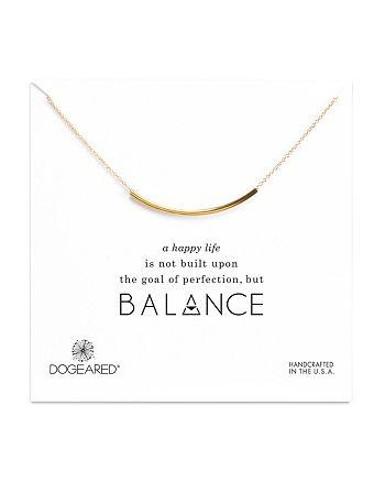"Dogeared - Balance Tube Necklace, 16"""