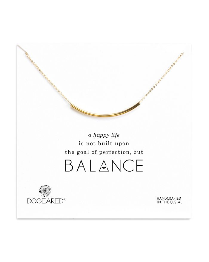 Dogeared - Balance Tube Necklace, 16""