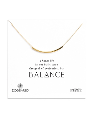 Dogeared Balance Tube Necklace, 16
