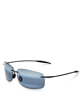 Maui Jim - Men's Breakwall Polarized Rectangle Sunglasses, 63mm
