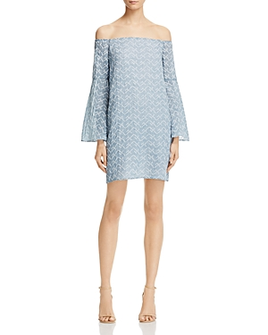Aqua Star Embroidered Off-the-Shoulder Dress - 100% Exclusive