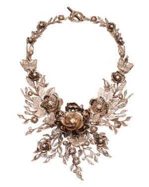 Marchesa Drama Collar Necklace, 16