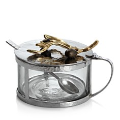Michael Aram Olive Branch Gold Covered Condiment Container - Bloomingdale's Registry_0