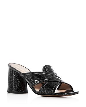 Marc Jacobs Aurora Glitter Crisscross Slide Sandals