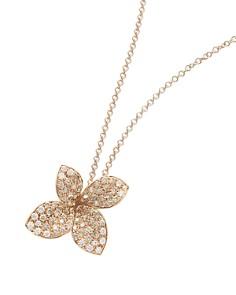 """Pasquale Bruni 18K Rose Gold Secret Garden Floral Pavé Diamond Pendant Necklace, 16"""" - Bloomingdale's_0"""