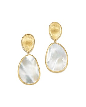 Marco Bicego - 18K Yellow Gold Lunaria Mother-of-Pearl Two-Drop Earrings
