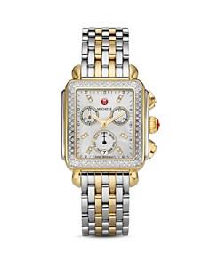 MICHELE - Deco Diamond Two-Tone Watch Head, 33mm x 35mm