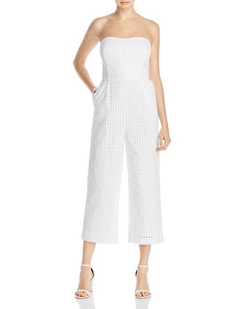 Laundry by Shelli Segal - Strapless Eyelet Jumpsuit