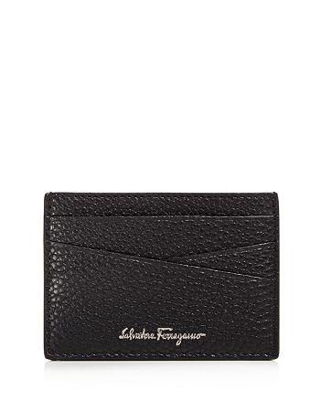 Salvatore Ferragamo - Firenze Tumbled Calfskin Flat Card Case
