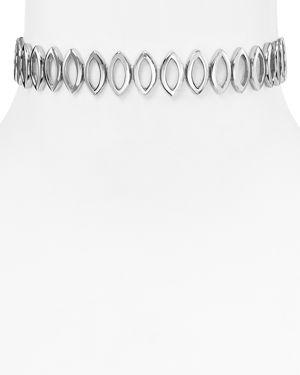 Rebecca Minkoff Navette Metal Choker Necklace, 11.25