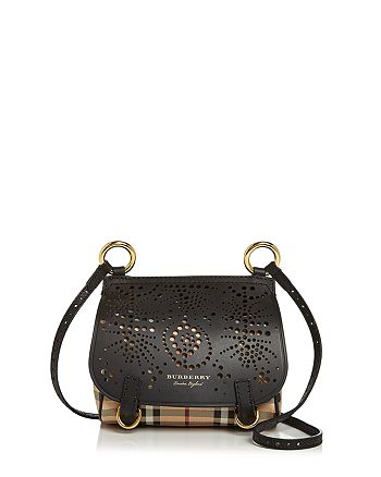Burberry Baby Bridle Perforated Haymarket Check Crossbody ... fc510af400889