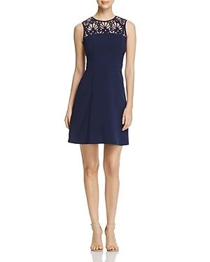 Michael Michael Kors Laser-Cut Floral Dress