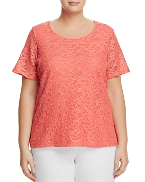 Calvin Klein Plus Lace Overlay Top