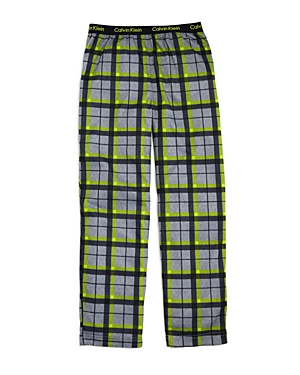Calvin Klein Boys Plaid Pajama Pants  Big Kid