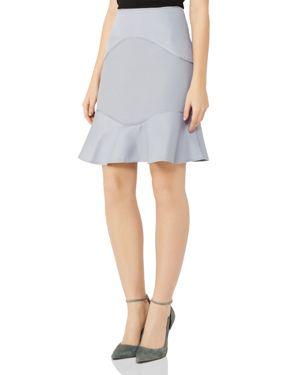 Reiss Ella Mixed Texture Skirt