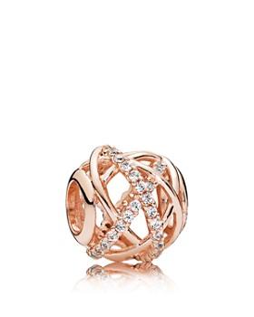 Pandora - Sterling Silver & Cubic Zirconia Galaxy Rose Charm